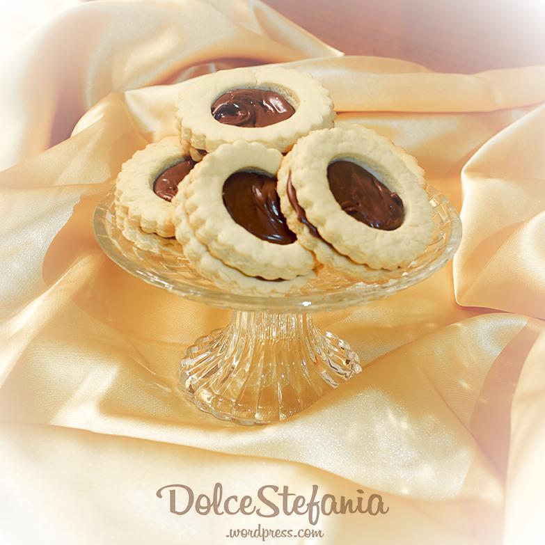 occhi di bue alla nutella dolcestefania