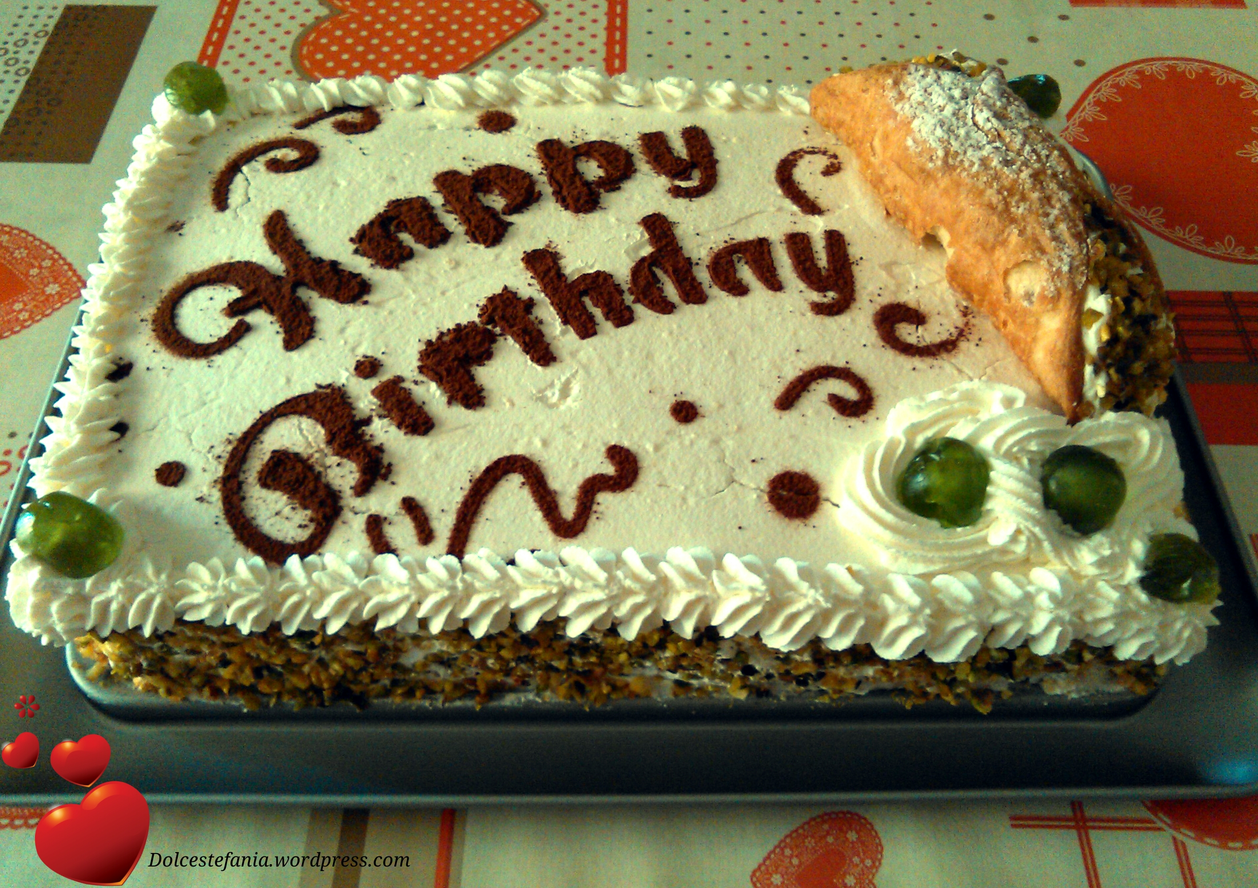 torta cannolo dolcestefania